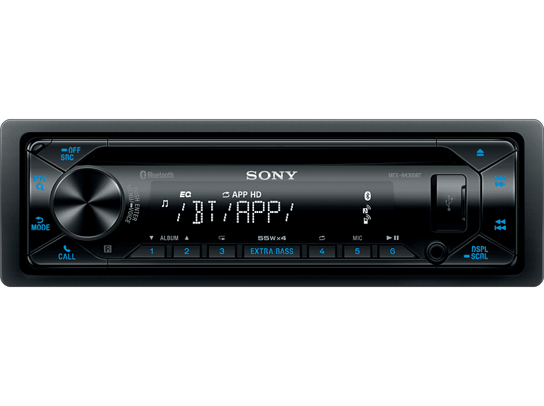 SONY MEX-N4300BT Audio fürs Auto 1 DIN, 55 Watt