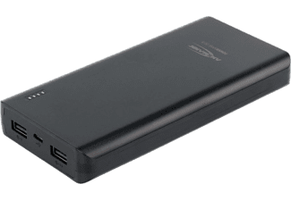 REALPOWER PB-20000 Black Type-C 20.000mAh Powerbank (RP-282241) - fekete