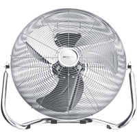 BRANDSON 301491 Metall Windmaschine Silber (48 Watt)