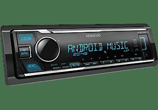 Autorradio - Kenwood KMM-125, Pantalla LCD, Ecualizador 3 bandas, USB, Radio FM/AM, Aux, Negro