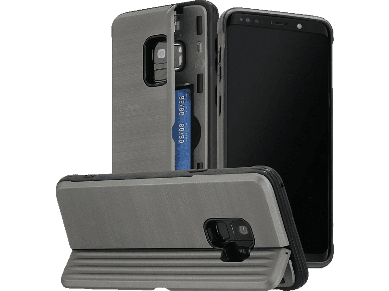 HAMA Rugged , Backcover, Samsung, Galaxy S9, Polycarbonat, Thermoplastisches Polyurethan, Anthrazit