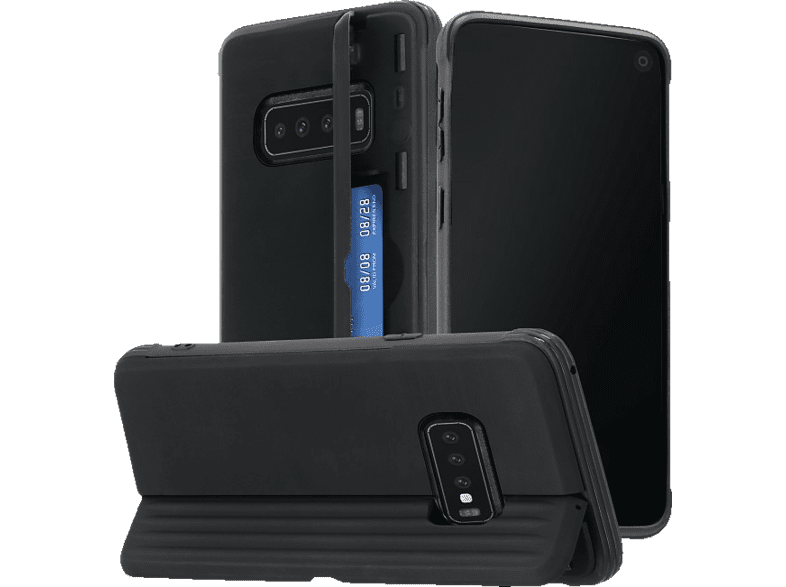 HAMA Rugged , Backcover, Samsung, Galaxy S10, Polycarbonat, Thermoplastisches Polyurethan, Schwarz