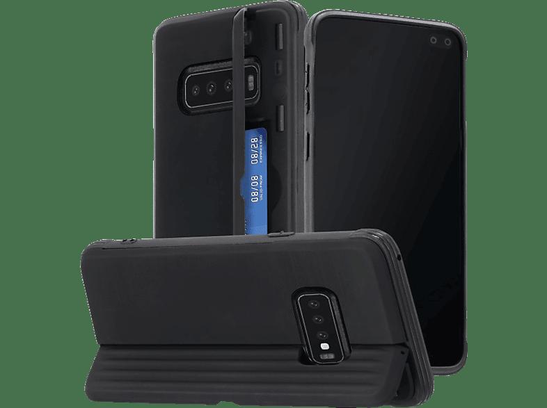 HAMA Rugged , Backcover, Samsung, Galaxy S10+, Polycarbonat, Thermoplastisches Polyurethan, Schwarz