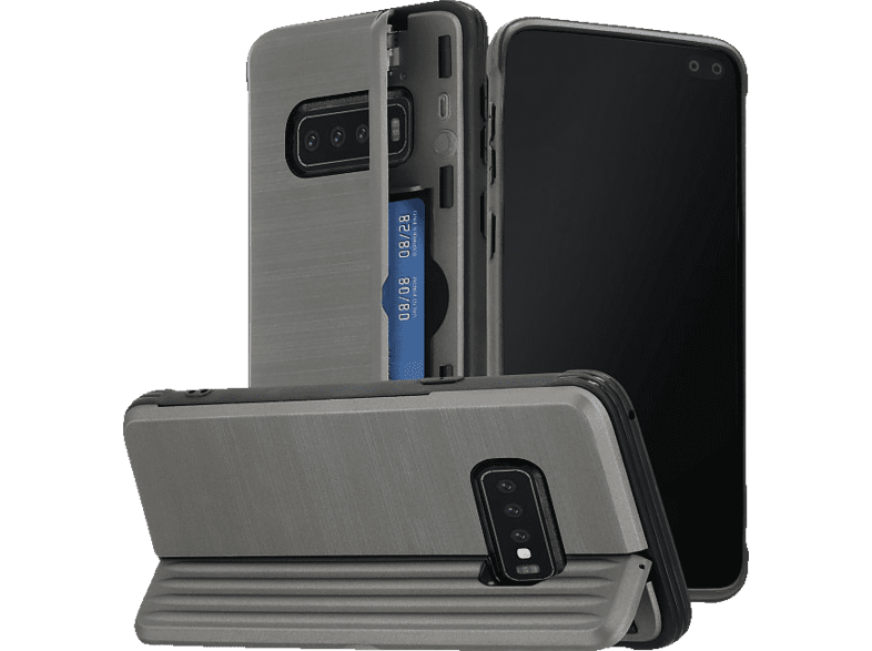 HAMA Rugged , Backcover, Samsung, Galaxy S10+, Polycarbonat, Thermoplastisches Polyurethan, Anthrazit