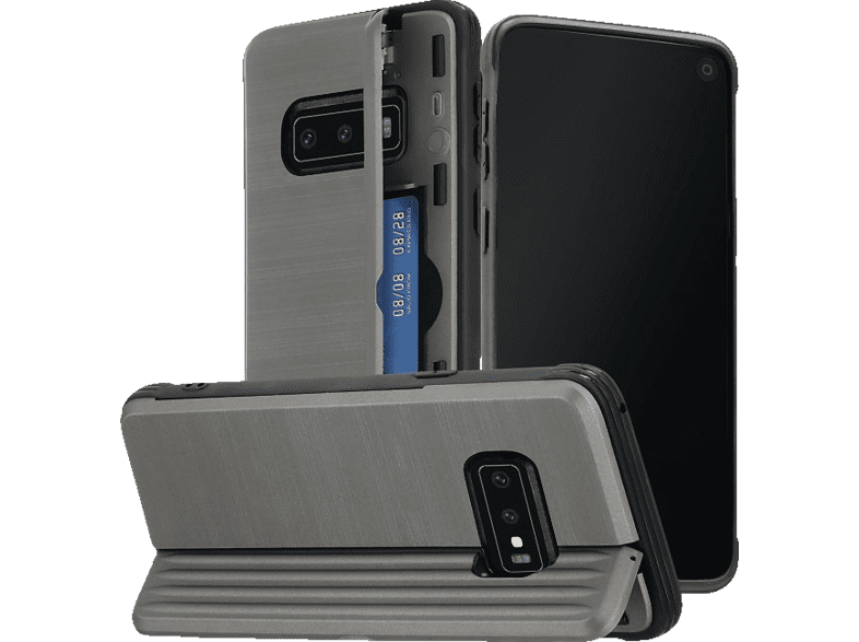 HAMA Rugged , Backcover, Samsung, Galaxy S10e, Polycarbonat, Thermoplastisches Polyurethan, Anthrazit