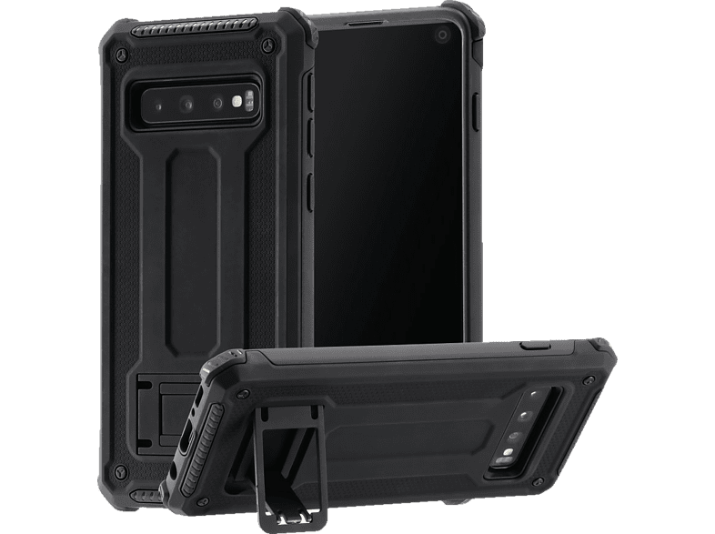 HAMA Army , Backcover, Samsung, Galaxy S10, Polycarbonat, Thermoplastisches Polyurethan, Schwarz