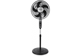 Ventilador de pie - Orbegozo SF0149, 40 cm, 5 aspas, 3 niveles, Oscilante, Negro