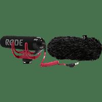 "RODE VideoMic GO & Fellwindschutz ""DeadCat GO"", Mikrofon, Schwarz, passend für Kamera"
