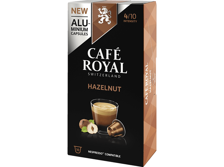 CAFE ROYAL Flavoured Edition Hazelnut Alu Kaffeekapseln (Nespresso)
