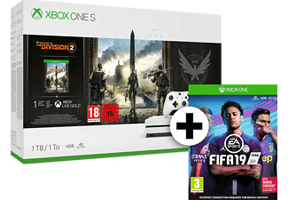 MICROSOFT Xbox One S 1TB μαζί με The Division 2 και Fifa 19