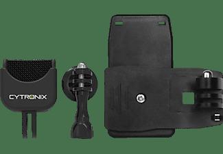 CYTRONIX 401326 DJI Osmo Pocket, Rucksackklemme, Schwarz