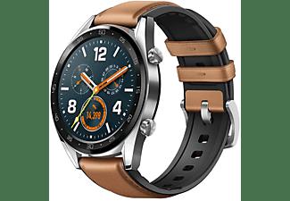 Smartwatch - Huawei Watch GT, 46 mm, 1.39'' OLED, GPS, TruSleep, Correa marrón