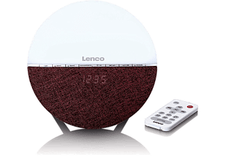 LENCO Wake up light FM Bluetooth Rood (CRW-4BY)