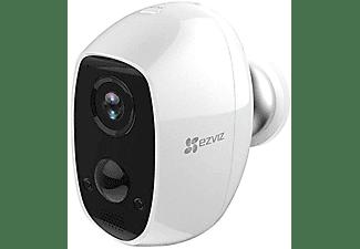 Cámara de vigilancia IP - Ezviz C3A, 100% inalámbrica, IP 65, FHD, Batería recargable 5500mAh, WiFi, Blanco