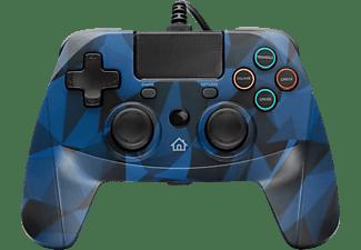 SNAKEBYTE Gamepad 4 S  mit 3 m Kabel Controller Camouflage/Blau