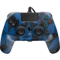 SNAKEBYTE Gamepad 4 S  mit 3 m Kabel Controller} Camouflage/Blau