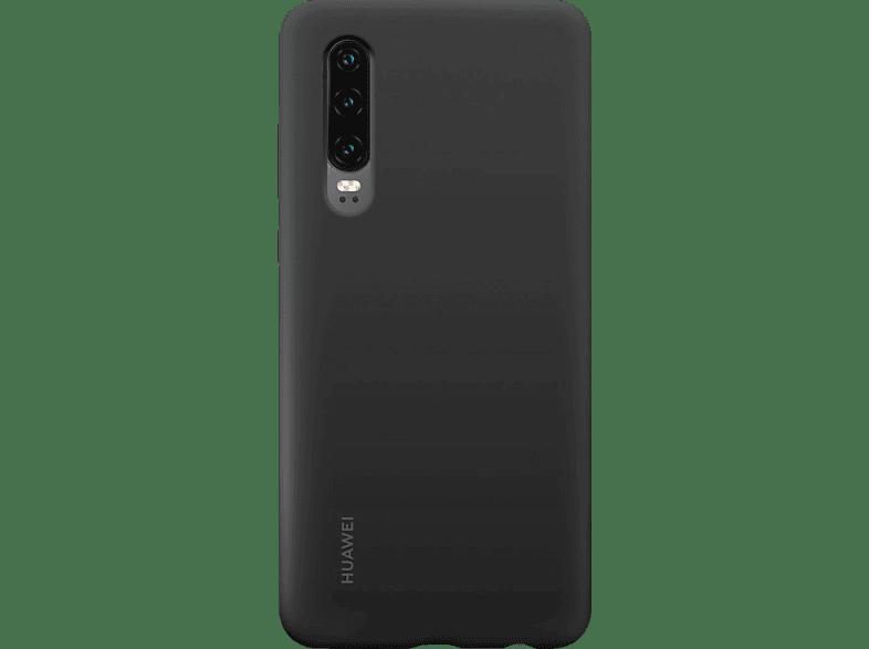 HUAWEI Silicone Car , Backcover, Huawei, P Smart + (2019), Silikon, Schwarz