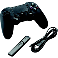 NACON PS4 Asymmetric Wireless Controller Controller, Schwarz