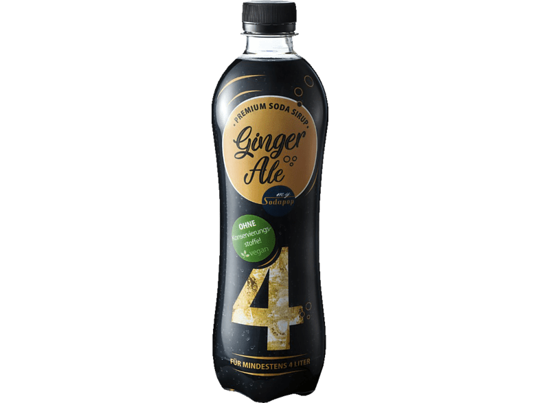 MYSODAPOP Bar Essence - Ginger Ale, 500ml PET-Flasche Sirup Ginger Ale