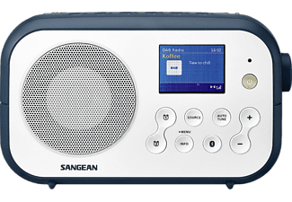 SANGEAN Radio-réveil portable DAB+ FM Bluetooth Traveller 420 Ink Blue (DPR-42BT WHITE-INK BLUE)
