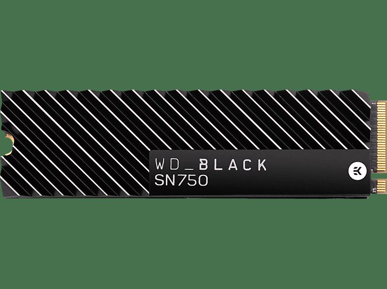 WD BLACK™ SN750 NVMe™ SSD mit Heatsink 1 TB, 1 TB SSD, Interner Speicher, intern