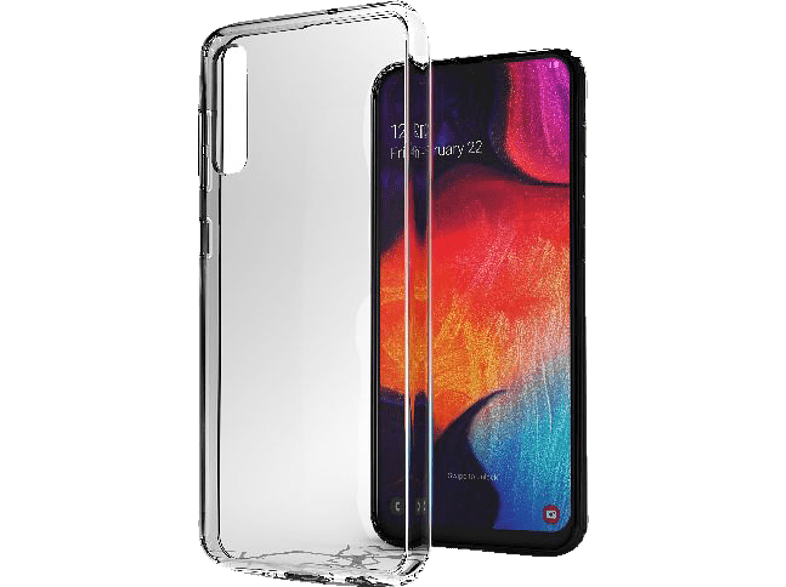 CELLULAR LINE CLEAR DUO , Backcover, Samsung, Galaxy A50, Thermoplastisches Polyurethan , Transparent