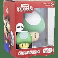 PALADONE PRODUCTS Icon Licht: Super Mario 1Up Pilz 3D 3D Leuchte, Mehrfarbig