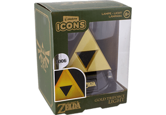 Icon Licht: Zelda - Goldenes Triforce Logo 3D