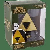 PALADONE PRODUCTS Icon Licht: Zelda - Goldenes Triforce Logo 3D 3D Leuchte, Schwarz/Gelb