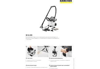 KÄRCHER 1.081-220.0 SE 6.100 Nass-/Trockensauger, Weiß/Schwarz