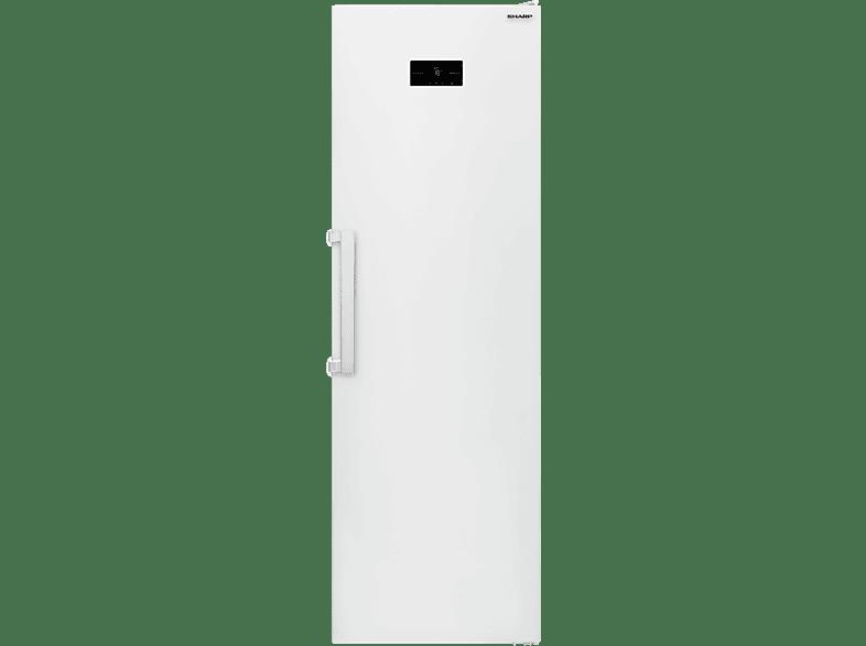 SHARP SJ-LC41CHXW2-EU  Kühlschrank (A++, 132 kWh/Jahr, 1860 mm hoch, Weiß)