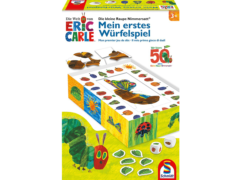SCHMIDT SPIELE (UE) Die kleine Raupe Nimmersatt® Würfelspiel, Mehrfarbig