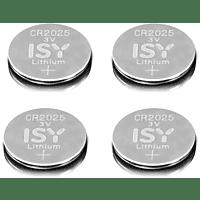 ISY IBA 2025 CR2025 3V Lithium 4-Pack Lithium-Knopfzelle CR2025 3V Knopfzelle, 3 Volt 4 Stück