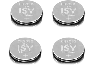 ISY IBA 2032 CR2032 3V Lithium 4-Pack Lithium-Knopfzelle CR2032 3V Knopfzelle, 3  Volt 4 Stück