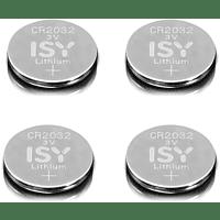 ISY IBA 2032 CR2032 3V Lithium 4-Pack Lithium-Knopfzelle CR2032 3V Knopfzelle, 3  Volt 4 Stück