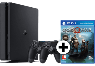 SONY PS4 1TB F Chassis Black μαζί με 2o Dualshock 4 και God Of War Day Standard Edition