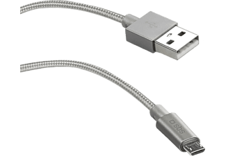 SBS MOBILE Micro-USB-kabel 1m - Silver