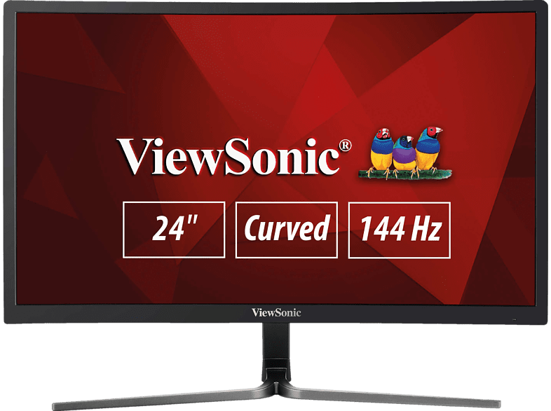 VIEWSONIC VX2458-C-MHD 23.6 Zoll Full-HD Monitor (1 ms Reaktionszeit, 144 Hz)