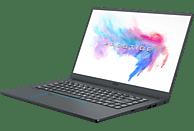 MSI PS63 8RC, Notebook mit 15.6 Zoll Display, Core™ i7 Prozessor, 16 GB RAM, 512 GB SSD, GeForce® GTX 1050, Carbon-Grau, blauer Diamantschnitt
