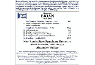 New Russia State Symphony Orchestra - Sinfonien 7 and 16  - (CD)