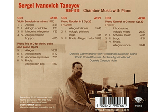 VARIOUS - Taneyev:Chamber Music With Piano  - (CD)