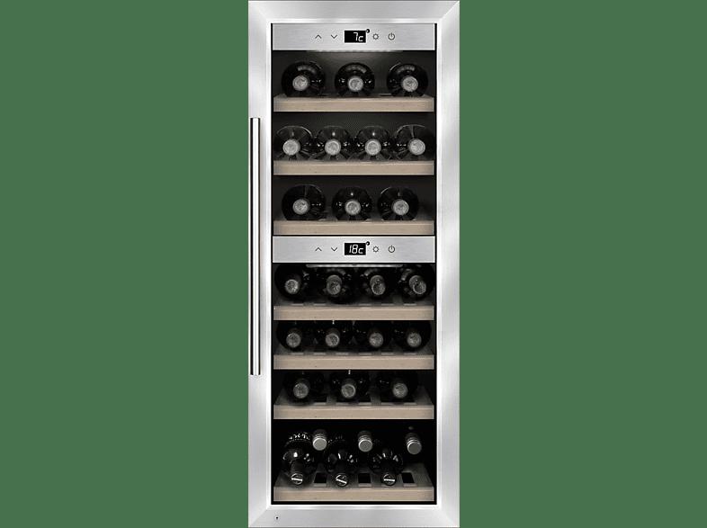 CASO WineComfort 38 Weinklimaschrank (139 kWh/Jahr, EEK A, Silber)