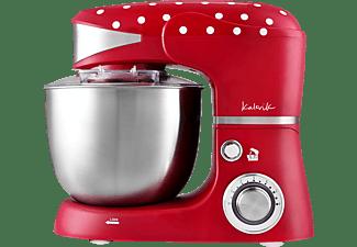 TEAM-KALORIK M 3014 Küchenmaschine Rot/Weiß gepunktet (Rührschüsselkapazität: 5 Liter, 1000 Watt)