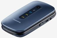 "Móvil - Panasonic KX-TU456, Para mayores, 2.4"", Botón SOS, Resistente Golpes, Compatible Audifonos-Azul"