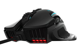 CORSAIR GLAIVE RGB PRO, Gaming-Maus, schwarz Gaming Maus, Schwarz