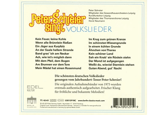 Peter Schreier, Gewandhausorchester Leipzig - Peter Schreier Singt Volkslieder  - (CD)