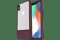 OTTERBOX Bundle Slim + Glas , Backcover, Apple, iPhone X, iPhone XS, Echtleder, Weinrot