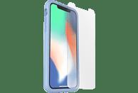 OTTERBOX Bundle Slim + Glas , Backcover, Apple, iPhone X, iPhone XS, Echtleder, Hellblau