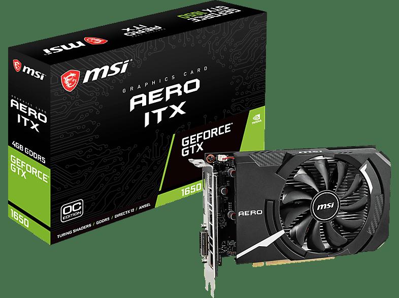 MSI GeForce® GTX 1650 Aero ITX 4GB OC (V809-3061R) (NVIDIA, Grafikkarte)