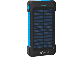 XLAYER Plus Solar Powerbank 8.000 mAh (29.6 Wh) Schwarz, Blau